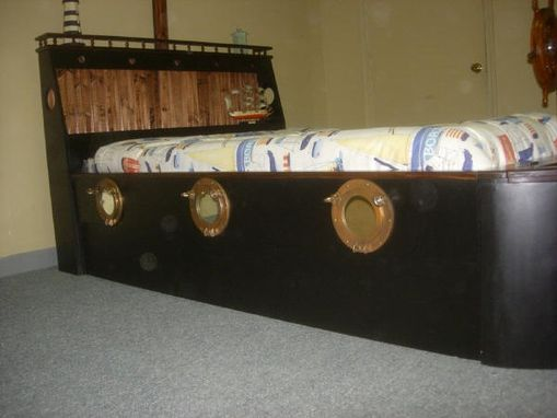 Custom Made Pirate Ship Bed