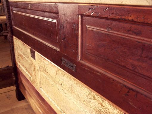 Custom Made Faulkner Street Door Bed Made From Reclaimed Wood