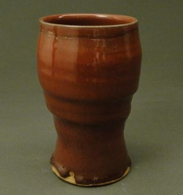 Custom Made Pottery Tall Cup, Copper Red Glaze, (Sku 48)