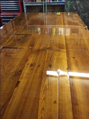 Custom Made Rustic Dining Table, Built From  Timbers That Were Milled Around 1896. David Sims 678-725-4120