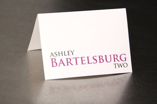 Custom Made Wedding Place Cards - Modern Justified - Escort Cards Favor Tags Custom Designed