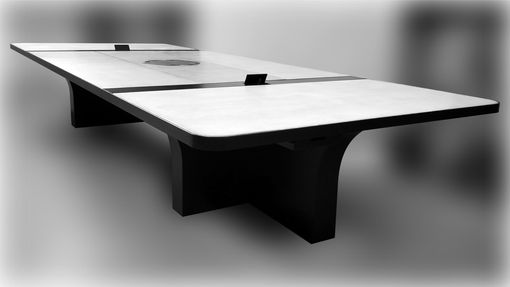 Custom Made Concrete And Steel Conference Tables Design And Fabrication