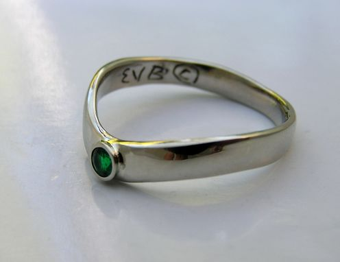 Custom Made His Hers Emerald Anniversary Rings - Handmade Custom 14k White Gold Rings