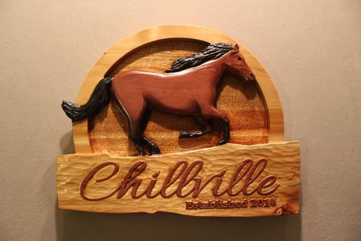 Custom Made Custom Horse Signs | Custom Carved Signs For Stables And Farms