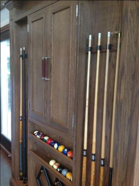 Custom Made Pool Room Display Case And Game Center