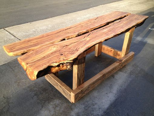 Custom Made Olive Flitch Bench