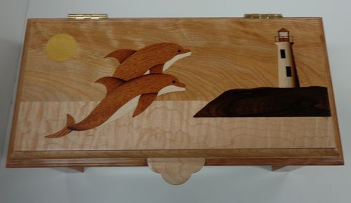 Custom Made Dolphin Keepsake Box