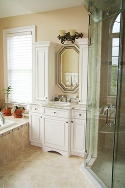Custom Made Refined And Elegant Bathroom Cabinetry