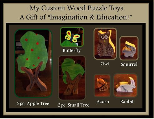 Custom Made Waldorf Toys, Wooden Forrest,Animal Forrest, Learnging Toys, Educational Toys