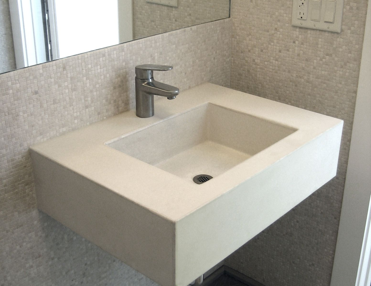 Hand Crafted 30 Ada Floating Sink By Trueform Concrete