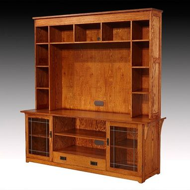 Custom Made Craftsman-Style Entertainment Center