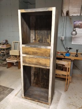 Custom Made Distressed Old Look Cabinet