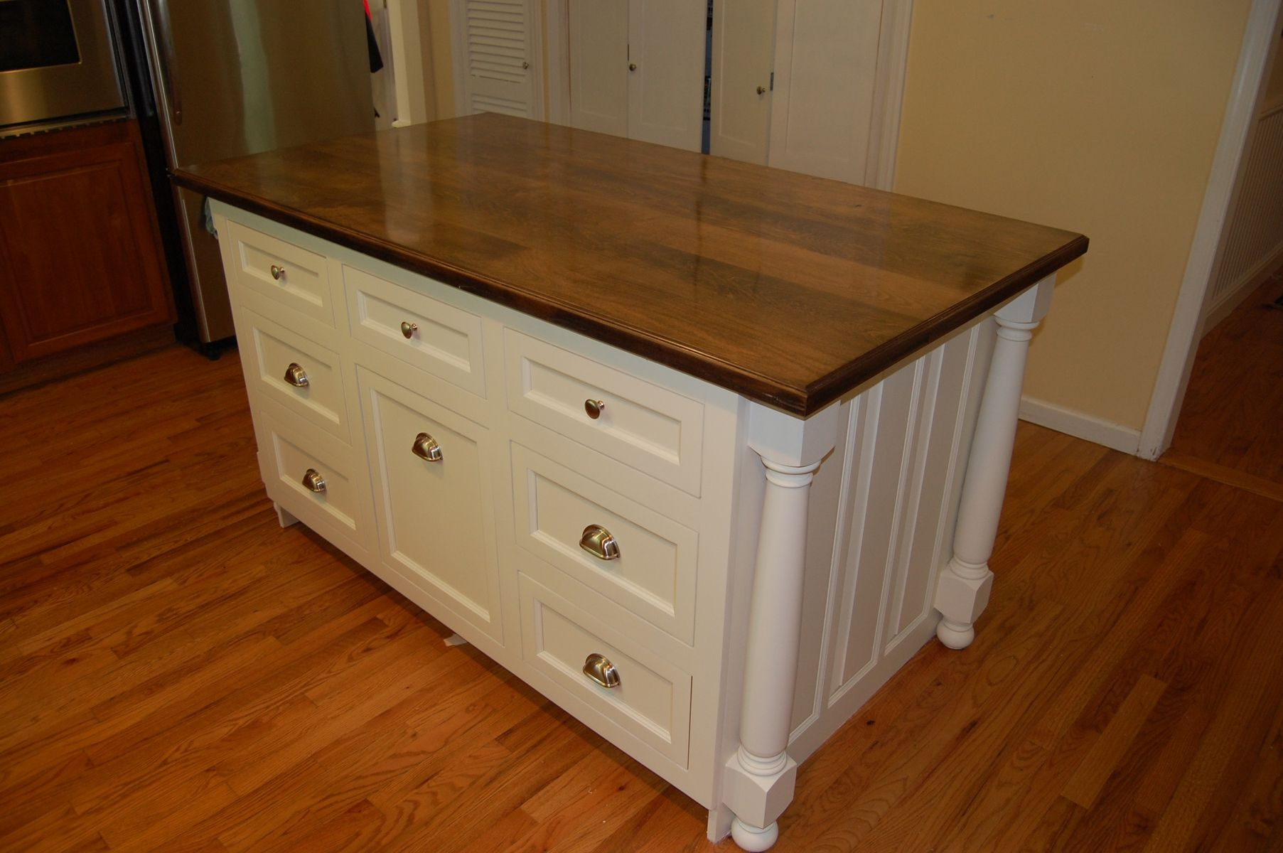 Custom Country Kitchen Island by John Samuel Custom Cabinetry