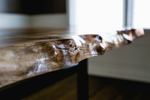 Custom Made Modern Walnut Live Edge Desk