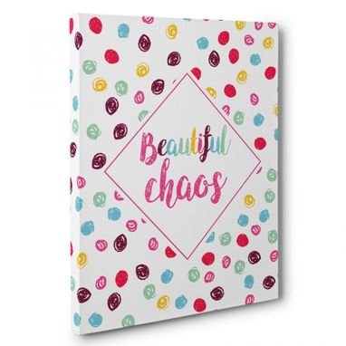Custom Made Colorful Beautiful Chaos Canvas Wall Art