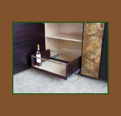 Custom Made Bar Sideboard With Copper Panel