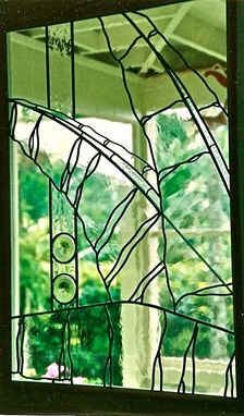 Custom Made Stained Glass Windows - Manoa Banana Leaves