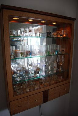 Custom Made White Oak Collectables Display Cabinet