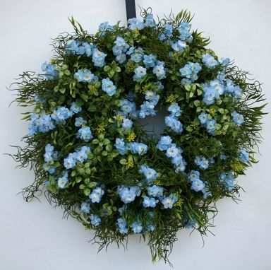 Custom Made Blue Spring Wreath
