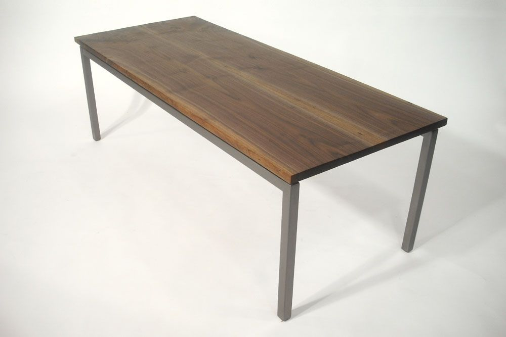 Hand Crafted Walnut And Steel Coffee Table By Bdagitz Furniture