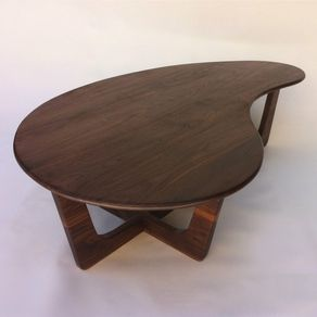Two Tiered Walnut End Table By Paine Furniture