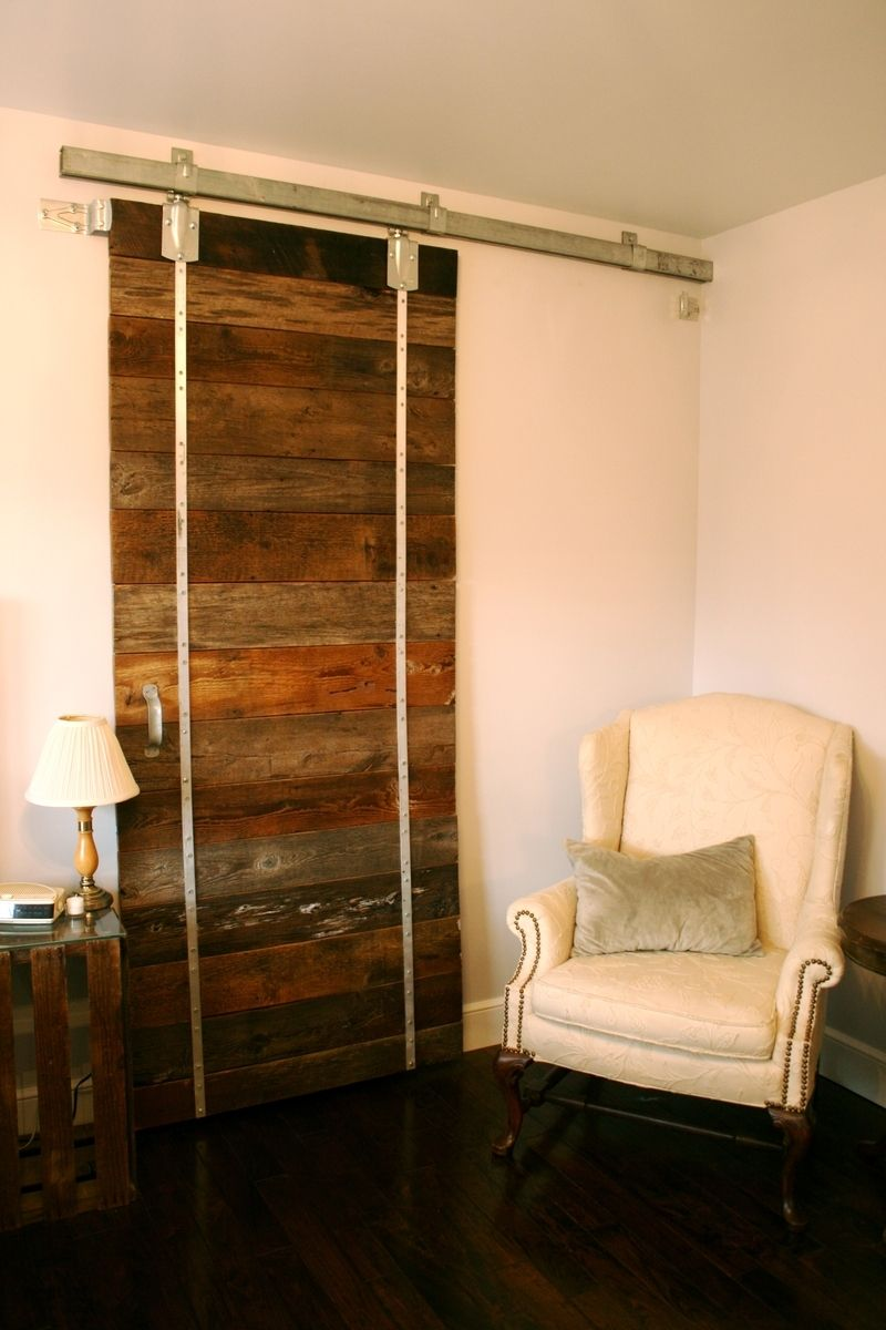 Buy a custom sliding reclaimed barn wood door made to for Custom made wood doors