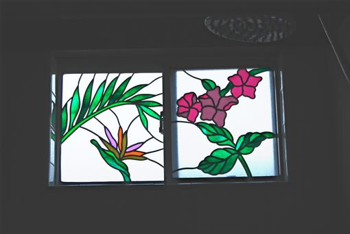 Custom Made Tropical Design Window