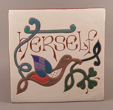 Custom Made 'Herself' Celtic Tile Trivet