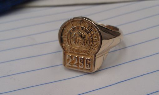 Custom Made Nyc Detective Ring