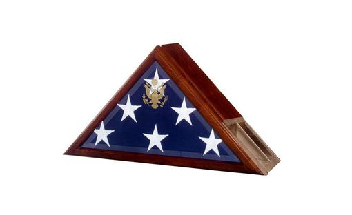Custom Made Flag Case Profile With A Built-In Urn Compartment