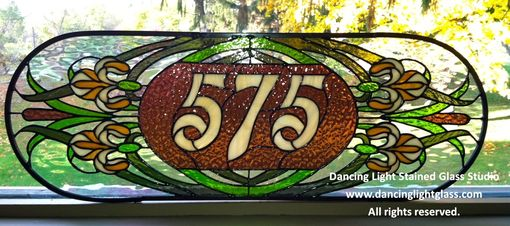 Custom Made Numbered Transom