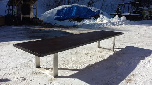 Custom Made 16' Custom Elite Walnut Table Stainless Steel Base