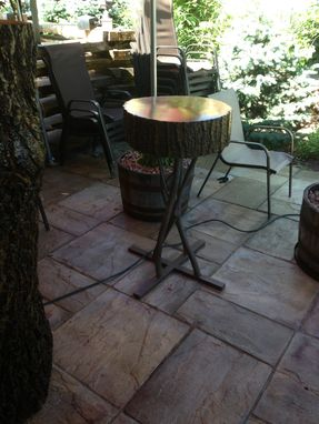 Custom Made Steel Branch Bar Height Table