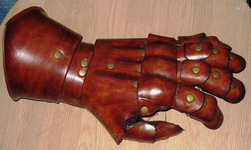 Custom Made Leather Gauntlet