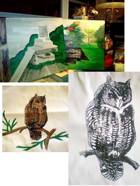 Custom Made Nature, Birds And Places , Painting On Canvas