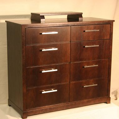 "Custom Made Oak Dresser With Rich ""Coffee"" Finish"