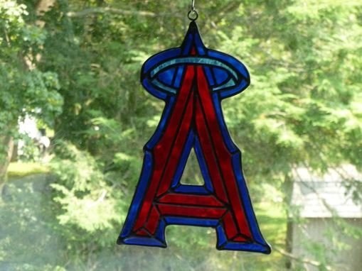 Custom Made La Angels-Inspired Stained Glass Light Catcher