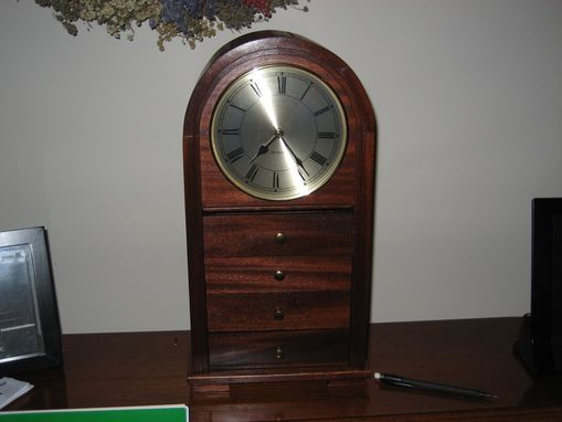 Custom Made Round Face Drawer Clock