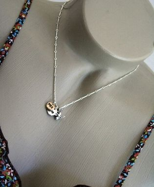 Custom Made Fine Silver - Run Love Fly Necklace