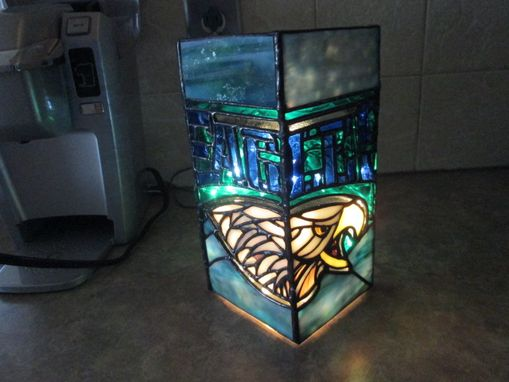 Custom Made Philadelphia Eagles Lighted Vase