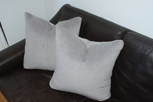 Custom Made Solid Grey Decorative Pillow Cover