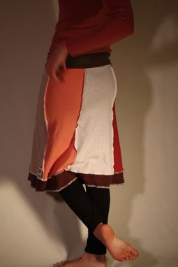 Custom Made Eco Upcycled Peach Smoothie Skirt-Size Small (4)