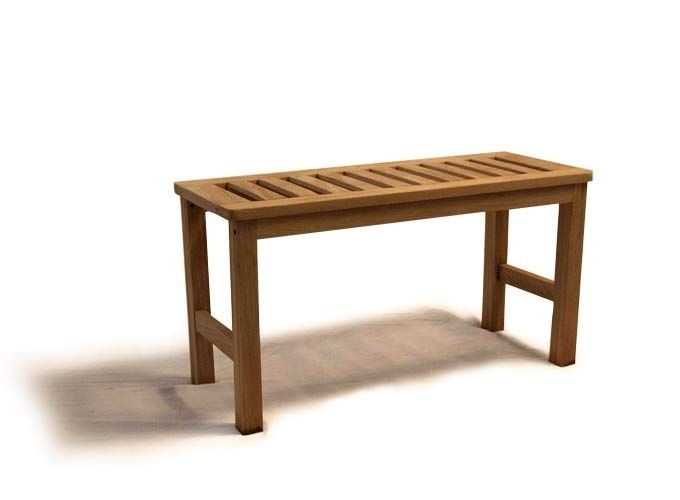 Hand Made Teak Shower Bench by rossmonster design | CustomMade.com