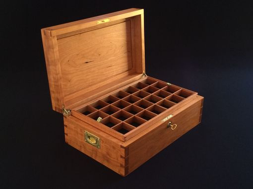 Custom Made Large Jewelry Box In Cherry Wood