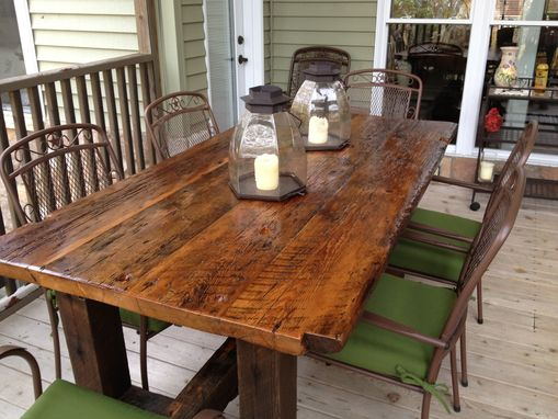 Custom Made Reclaimed Trestle Table