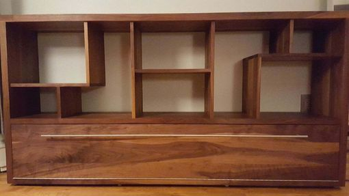 Custom Made Solid Walnut Entertainment Center