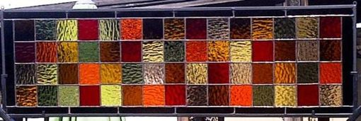 Custom Made Stained Glass Panel - Fall Colors (P-11)