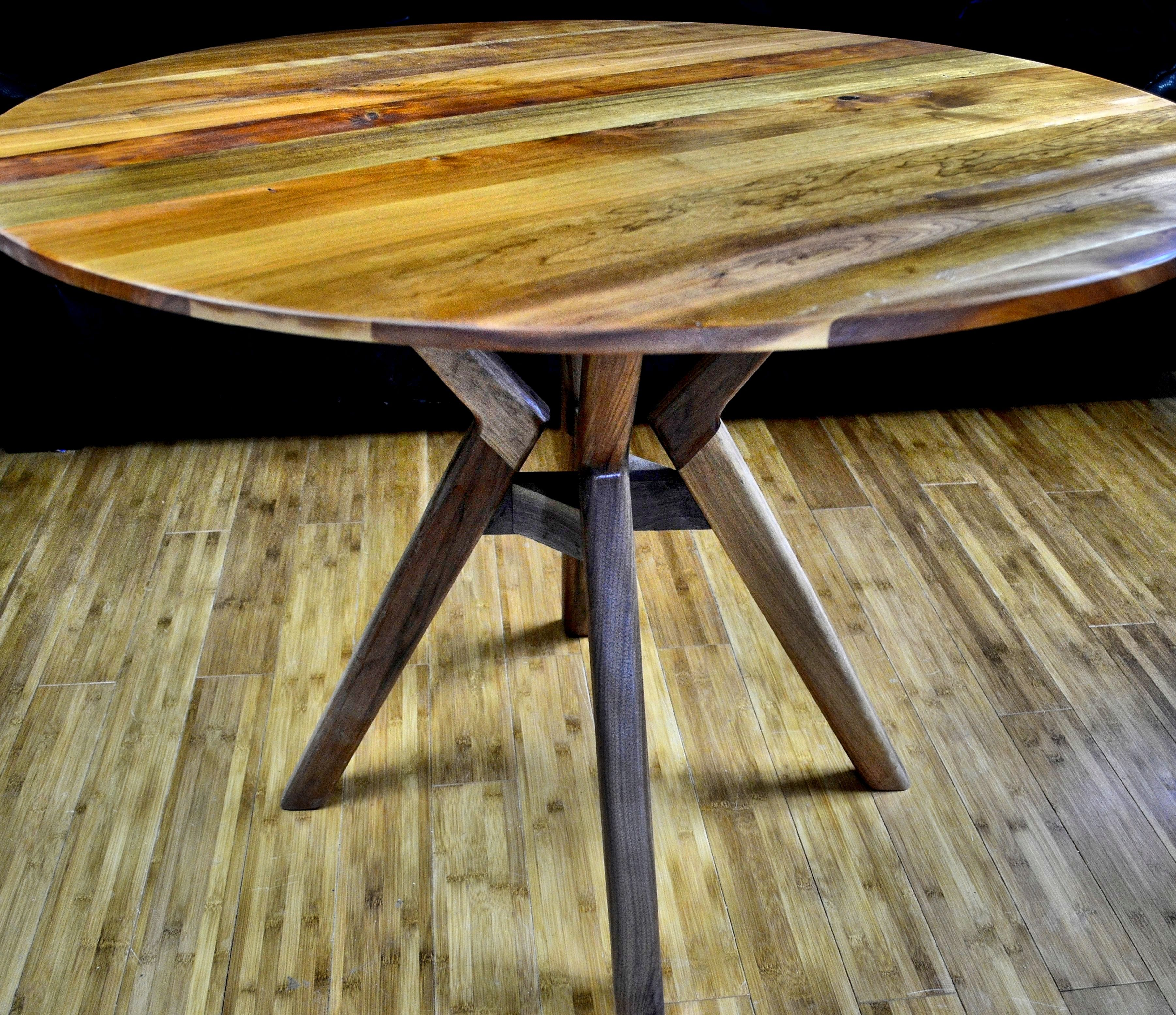 Buy a Custom Made Dining Table Atlas 40 Inch Round Table Solid
