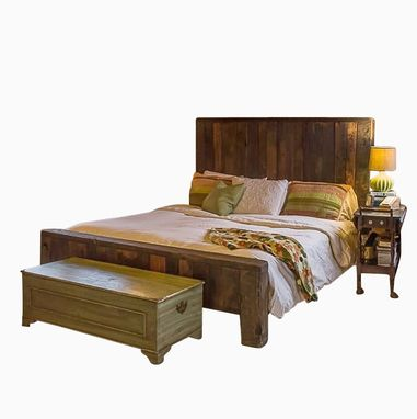Custom Made Mountain Man Reclaimed Rustic 4 Drawer Platform Bed