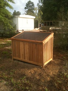 Custom Made Western Cedar Refuse Holder